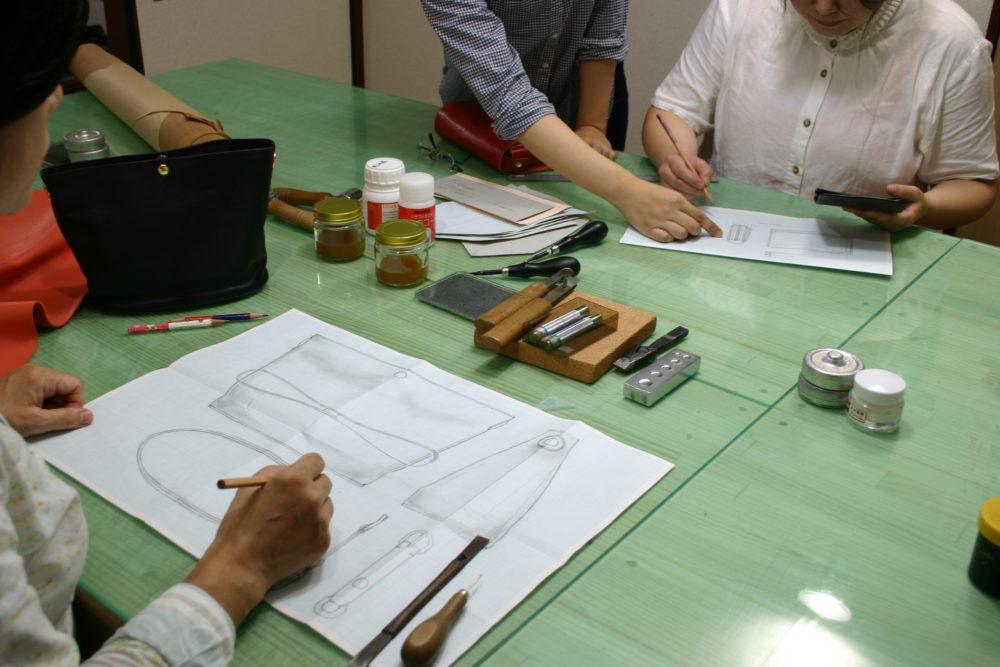 鈴木革バッグデザイン教室